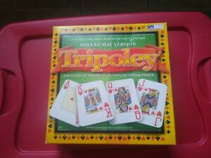 Tripoley Deluxe Mat Version Michigan Rummy Hearts Poker Board Game New