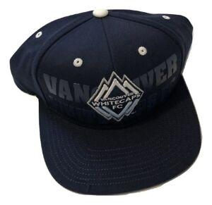 NWT New Vancouver Whitecaps FC adidas MLS Academy Navy Snapback Hat Cap