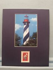 St. Augustine Light Station in Florida and the stamp honoring St. Augustine