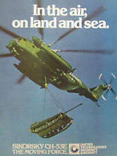3/1981 PUB SIKORSKY CH-53E MARINES HELICOPTER HUBSCHRAUBER HOWITZER ORIGINAL AD