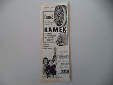 advertising Pubblicità 1961 RAMEK KRAFT FORMAGGIO