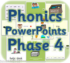 LETTERS AND SOUNDS PHASE 4 Powerpoints KS1 IWB phonics teaching resources  on CD