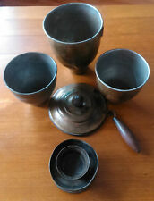 antique Romanian WW1 military army canteens cups burner set field gear militaria