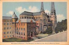 Vtg POSTCARD MONASTERY BASILICA Basilique St. Anne de Beaupre, QUEBEC Canada
