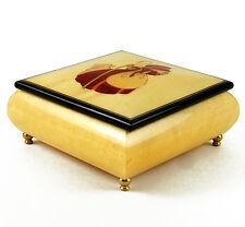 Mary Bo Peep Sorrento Inlaid Over Beige Stained Wood Music Box- MBA Reg $225
