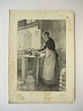 Lithographie, La potière, XIXème, Victor Marec