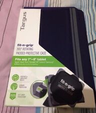 """Targus Fit-N-Grip 360 Rotating Universal Case For 7"""" To 8"""" Tablets-Blue Colour"""