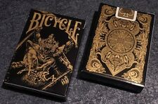 1 DECK Bicycle Asura Black-Gold playing cards FREE USA SHIP