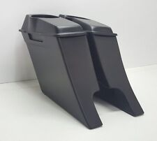 "6"" Drop Back Saddle Bags 6 1/2"" #1 Speaker Lids Harley Davidson Touring Dual"