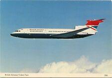 (A19) British Airways Airlines Hawker Siddeley Trident 2 Airplane 1970s Postcard
