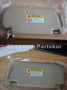 For 2006 ~ 2010  Kia Optima Left Right Side Sun Visor Beige J7 2EA 1SET Genuine