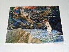 1970's Berni Wrightson comic book girl fantasy art poster print: Nude woman/1978