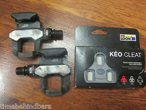 LOOK KEO LONG CARBON NANO BLADE CLIPLESS PEDALS WITH NEW CRLEATS