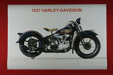 1937 Harley-Davidson Vintage Classic Motorcycle Picture Poster 24X36 NEW   HA37