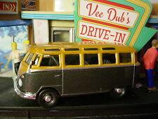 Vee DUB'S Drive-In Volkswagen Samba Bus ✰ Noir/Doré ✰ en Vrac ✰ Moteur le Monde