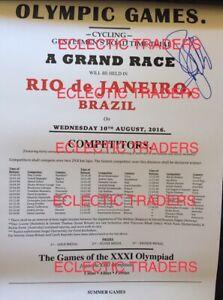 Fabian Cancellara SIGNED 2016 Rio Olympics cycling GOLD. A3 poster w PROOF! Bike