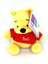 "Disney Mattel Winnie The Pooh Bean Bag Plush 6"" w/ Factory Tag"
