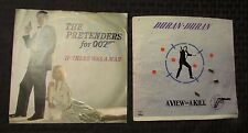 "James Bond 007 45 7"" Pretenders & Duran Duran EX/VG+ LOT of 2 45 7"""