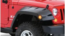 BUSHWACKER MAX COVERAGE FENDER FLARES 07-17 JEEP WRANGLER JK 2 DOOR FRONT SET
