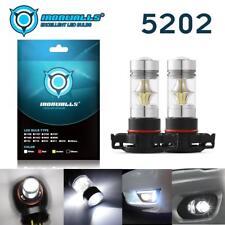 5202 H16 LED Fog Light Bulbs for 2007-2015 Chevy Silverado 1500 White 6000K 160W