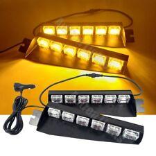 """36W LED 29"""" Amber Emergency Flash Strobe Visor Dash Sucker Split Deck Light Bar"""