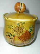 Los Angeles Pottery/Maurice of California Retro Gold FRUIT Biscuit/Cookie Jar