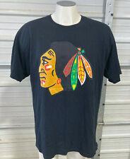 Chicago Blackhawks Shirt - Mens Xl - Black Scale Brand - Black Tagless Nhl