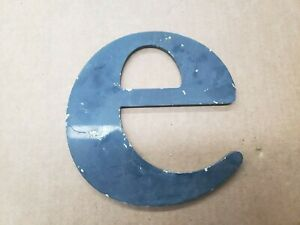 """Solid Aluminum Letter """" e """" 7"""" inches tall, Industrial Decor"""