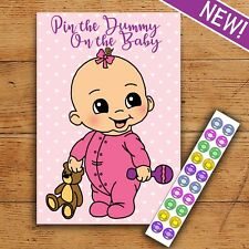 Pin the Dummy on the Baby - Baby Shower Game - 20 Player - A3 Poster