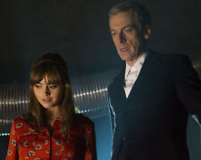 Jenna Coleman and Peter Capaldi UNSIGNED photo - K9962 - Doctor Who