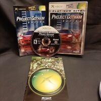 Project Gotham Racing Microsoft Xbox, 2001 CIB Platinum Hits Very Good Condition