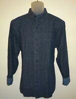 Tommy Bahama Mens L/S Shirt * Size XL Almeria Plaid Blue Cotton Linen Blend NWT