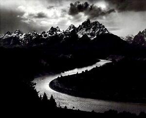 1972 1942 Ansel Adams The Grand Tetons Snake River Wyoming Art Photo