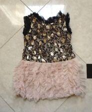 NWT Le Pink Gold/Black/Blush Dress