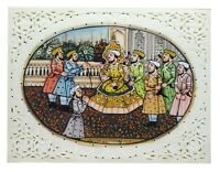"Painting 4"" X 3"" Shajahan Mumtaz Handmade India Miniature Artwork Resin tile"
