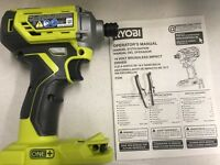Brand New Ryobi P239 18V ONE+ Cordless Brushless speed Impact Driver bare tool