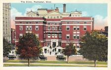 ROCHESTER, MN Minnesota  THE CLINIC  20's Cars~Automobiles  c1920's Postcard