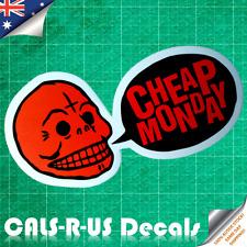 CHEAP MONDAY Skull Fashion Jeans Luggage Sticker Skateboard Guitar Car Bike L4