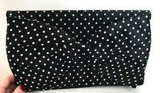 Betsey Johnson Clutch Handbag Polka Dot Satin with Large Bow ~Fashion Statement