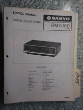 Sanyo RM 5150 service manual original repair book am/fm digital clock radio