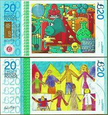 """Inglaterra/Bristol £ 20 billete """"Wallace & Grommit"""". el Reino Unido más colorida nota?"""
