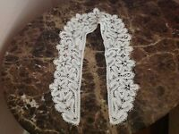 Lace Collar Knitted Handmade White Cotton 30x4 inches