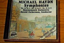 MMG Michael Haydn Symphonies 19 in C,23 in D,26 in G Bournemouth Sinf Rare Exc