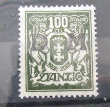Freie Stadt Danzig 1923 100 Mark mit Aufdruck DM Dienstmarke Postfrisch