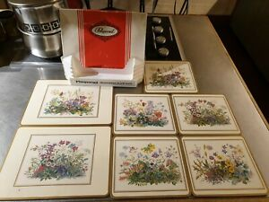 PIMPERNEL MEADOW FLOWERS CORK BACK PLACEMATS ~ 7 in total ~ Assorted Views