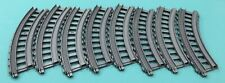 """LOT OF 8 Thomas the Train Trackmaster Grey Gray Replacement 7.5"""" Curved Track"""