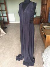 Stunning Grey Lilac Pure Silk Rohit Bal Size 12 Maxi Drape Dress