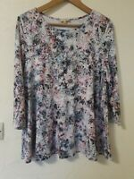 Phase Eight Abstract Print Relaxed Style Fit Top Size 14