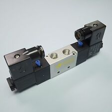 "1/4"" Pneumatic 5/2 Way Electric Control Solenoid Valve 4V220-08 110V Double Coil"