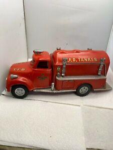 1957 TONKA TANKER GASOLINE FIRE TRUCK Fire Engine RARE ONE OF A KIND